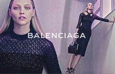 唯一的 Sasha Pivovarova,BALENCIAGA 2015 春夏广告放出