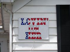 Updated sign for the Lovin On Her house in Oxford, Ohio. Miami University, Ohio, Garage Doors, Oxford, Sign, Outdoor Decor, House, Home Decor, Columbus Ohio