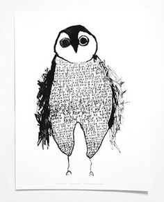 Lovely Owl Illustration,  Falling Icebergs Owl poster print an art collab with Big Kids Magazine for Mini & Maximus