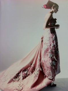 Maryna Linchuk in Dior Couture by Patrick Demarchelier.