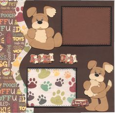 Doggone Good Dog Puppy Paper Piecing Premade Scrapbook Pages   eBay