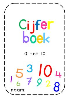 cijfer tekenboek.pdf Number Games, Educational Crafts, Math Numbers, Math Worksheets, My Teacher, Fine Motor Skills, Teaching Math, Pre School, Google Drive