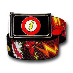 Flash Graphic Adult Web Belt #TheFlashClothing #TheFlashGifts #TheFlashGiftIdeas #TheFlashFan