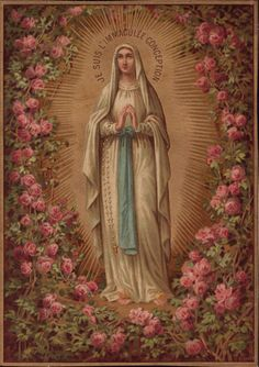 Our Lady of Lourdes lead us to be more merciful & charitable as Jesus, your blessed Son is. Divine Mother, Blessed Mother Mary, Blessed Virgin Mary, Religious Pictures, Religious Icons, Religious Art, Image Jesus, Immaculée Conception, La Salette