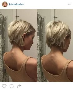 Short choppy bob haircut. More