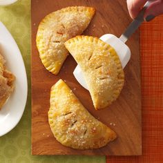 Hand-Held Apple Pies Recipe -When I was in high school, my best friend's mother baked mini apple pies every year. I was thrilled when she shared the recipe with me—it made me feel like I was finally an adult! —Katie Ferrier, Houston, Texas
