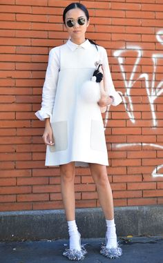 Yoyo Cao from Street Style at Milan Fashion Week Spring 2016   E! Online
