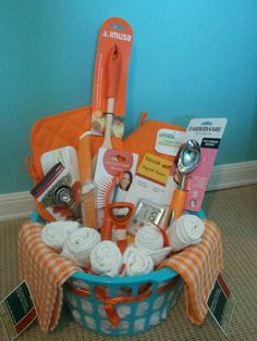 Orange bridal shower gift