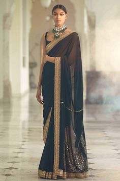 Saree and blouses Beautiful Hand Embroidered Sari .For This Sari Mail Us At contact Bui Sabyasachi Sarees, Indian Sarees, Indian Bollywood, Bollywood Dress, Indian Gowns, Anarkali, Lehenga, Sari Dress, The Dress