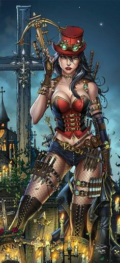 Steampunked Wonder Woman / wow one of the best steampunk style I've seen
