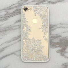 Floral Lace Paisley Flower Clear Case For iphone 7 7plus /6 6S plus