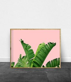 Contemporary tropical foliage art print with Banana Leaf / Minimalist Poster. Hello, we are White Orchid Prints, designers of contemporary printable wall art inspired by simplicity and beauty of Minimalist design and abstract geometry found in nature. We offer a variety of images from mid century modern, minimalist and geometric art, to nature photography and Scandinavian/Nordic style wall art. ____________  Upon purchase you will receive a digital file containing a high resolution ...