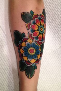 sailor jerry's flowers traditional tattoo sleeve - Google Search