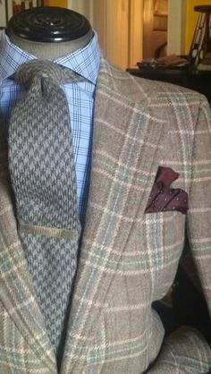 Cashmere Houndstooth Tie and Bespoke Tweed Odd Jacket all from Lillian Tony