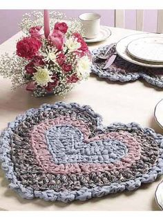 Perfect for a romantic lunch for two, these heart-shaped place mats speak of love and the comforts of home.