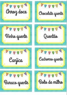 É grátis! Baixe e imprima plaquinhas de comidinhas para festa junina Clip Art, Party, Diy, Safari, Blog, Wedding Stuff, Tags, Photos, Fiesta Party