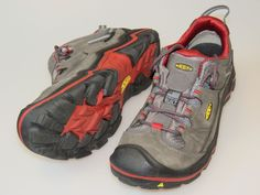 KEEN Durand Low WP Dark Earth/Red Dahlia Trail Shoes Men's Size 11 Medium NICE #KEEN #Durand