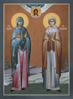 We are an online maker and seller of Orthodox Christian Icons, books, and gifts. We offer many different sizes, as well as laminated or mounted on wood. Saint Martha, Mary And Martha, Mary Of Bethany, Saint Lazarus, St Monica, Holy Quotes, Byzantine Icons, Home Icon, Orthodox Christianity