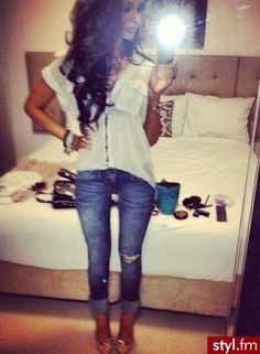 ♥ outfit and hair