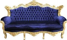 ROYAL BLUE AND GOLD SETTEE - Google Search