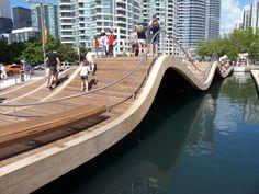 Landscape Architects: West 8 urban design & landscape architecture and DTAH Location: Toronto, Ontario, Canada Collaborators: Schollen &. Urban Landscape, Landscape Design, Torre Cn, Ontario, Landscape Arquitecture, Bridge Design, Pedestrian Bridge, Pedestrian Crossing, Parcs