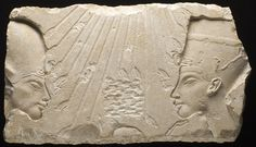 Akhenaten and Nefertiti, Egypt, 18th Dynasty (1569 - 1315 BCE) Los Angeles County Museum of Art, Currently not on view