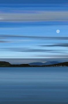 Magnificent Nature ~ Moon over Oban Bay, Highlands of Scotland Beautiful Moon, Beautiful World, Beautiful Places, Beautiful Pictures, Amazing Places, Image Bleu, Ligne D Horizon, All Nature, To Infinity And Beyond