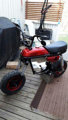 Custom Mini Bike, Custom Bikes, Moped Bike, Motorbike Design, Pit Bike, Electric Bicycle, Vintage Motorcycles, Motorbikes, Honda