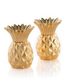 Gold Pineapple Salt & Pepper Shakers