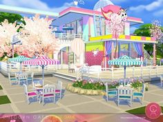 Unicorn Cafe by Cross Architecture for The Sims 4