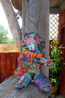 Digital Aardvarks: art dolls  batik doll $140