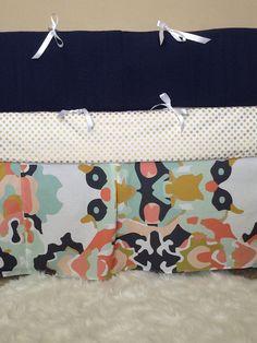 Crib Bumper by bbylab on Etsy