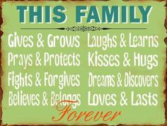 LAFINESSE VINTAGE SCHILD  THIS FAMILY  FAMILIE NOSTALGIE METALLSCHILD SHABBY NEU
