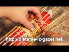 Как сплести тубусы для хранения шарфиков. Часть 2. ♥ Плетение из газет ♥