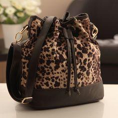 2013 women's handbag fashion leopard print bags vintage bucket bag shoulder bag messenger bag women bags-inMessenger Bags from Luggage & Bags on Aliexpress.com
