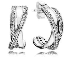 db75b123c Pandora Entwined Half Hoop Earrings 290730CZ Bangles, Bracelets, Fashion  Earrings, Hoop Earrings,