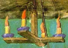 Chandelier from Traictié de la forme et devis d'ung tournoy, 1460