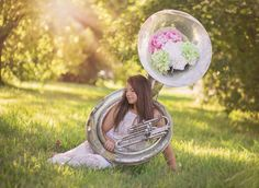 Senior photos done by faithful bird photography Sousaphone, Band Nerd, Band Photos, Chara, Senior Pictures, Snow Globes, Faith, Bird, Instruments