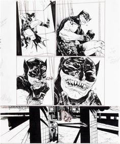 Original page by Paul Pope fromBatman: Year 100 #2 published... Original page by Paul Pope fromBatman: Year 100 #2 published by DC Comics 2006.