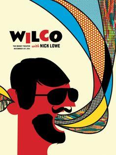 Wilco Poster - Austin, TX / Lure Design, Inc. in Orlando FL
