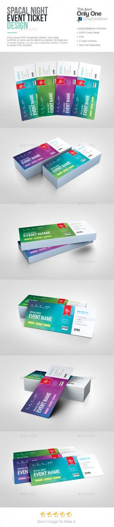 Event Tickets Template XVIII Ticket Template Event Ticket And - Event ticket template photoshop