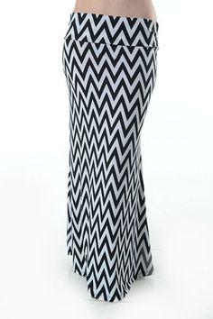 Chevron Maxi Skirt   $18.00   Order at www.jupeinc.com