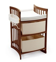 Stokke Care Changing Table Walnut Brown. Converts into Bookshelf & Desk too!