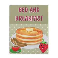 Pancake Breakfast Plaque With Easel