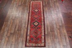 Vintage Geometric Tribal Runner Ardebil Persian Oriental Rug x Kitchen Rug, Tibet, Afghanistan, Oriental Rug, Primary Colors, Persian, Bohemian Rug, Rugs, Vintage