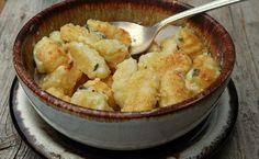 ñoquis con salsa de queso