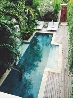 Small Swimming Pools, Luxury Swimming Pools, Swimming Pool Designs, Lap Pools, Small Pools, Dream Pools, Luxury Pools, Langer Pool, Tropical Pool Landscaping