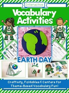 Vocabulary+Activities+-+Earth+Day+ThemeThis+packet+of+5+interactive+activities+will+help+you+to+reinforce+theme+based+vocabulary+for+PreK+&+Kindergarten+students.------------------------------------------------------------------------------------------------This+packet+is+included+in+my+Value+Bundle+of+Vocabulary+Activities,+a+pack+which+offers+you+more+vocabulary+activities+and+saves+you+$$$------------------------------------------------------------------------------------------------The+p...
