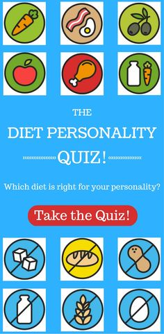 Take our quiz to find out which diet works best with your personality! #weightlosstips