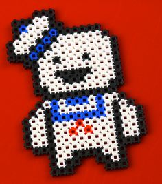 It's the Stay Puft Marshmallow Man from Ghostbusters! Let's hope this Simbrix version doesn't grow 100ft tall! #Ghostbusters #craft #billmurray #fun #movies #ghost #pixelart #franchise #staypuftmarshmallowman #slimer